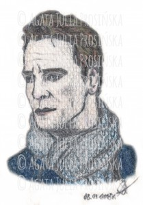 Michael Fassbender/Brandon Sullivan || Kredki i ołówek, 08/09.03.2015 | Colored pencils and pencil, 03.08/09.2015 © Agata Julia Prosińska