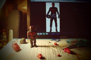 Ant-Man Homemade Plasticine Figure
